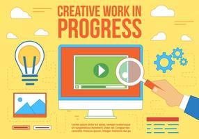 Kostenlose kreative Arbeit Vektor