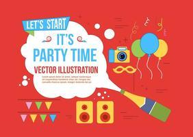 Freier Party-Zeit-Vektor vektor