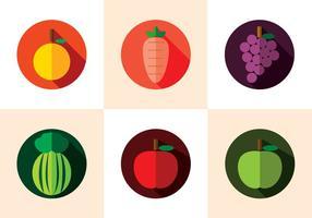 Frucht Kühlschrankmagnet Vektor