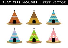Flat Tipi Häuser Free Vector
