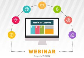 Webinar Vektor illustration