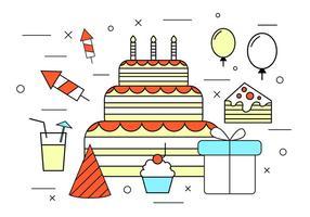 Födelsedagsvektor ikoner vektor