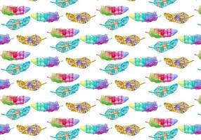 Freie Muster Aquarell böhmische Feder