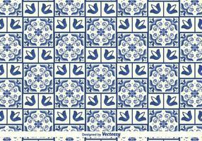 Vector Traditionelles Azulejos Muster