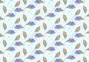 Free Vector Aquarell böhmischen Feder Muster