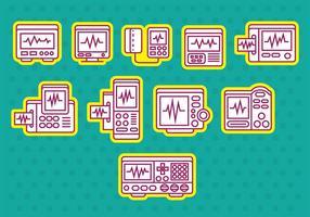 Heart Monitor Ikoner vektor