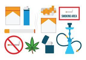 Gratis platt rökning ikoner vektor