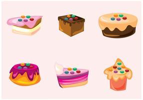 Smarties und Kuchen Vektoren