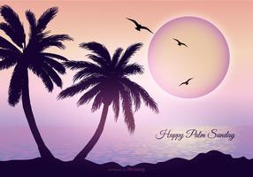 Palm söndag bakgrunds illustration