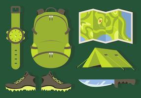 Bergsteiger-Elemente Illustrationen Vektor