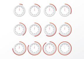 Freie Uhren Vektoren