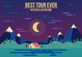 Gratis bästa turnén någonsin vektorillustration