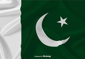 Wellenartig bewegende Flagge von Pakistan Vektor Hintergrund