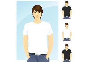 T-tröja mall vektorer