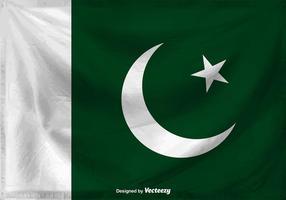 Flagge von Pakistan Vektor Hintergrund