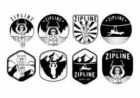 Zipline-Abzeichen-Set