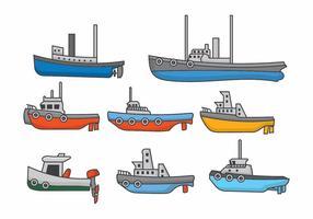 Bogserbåt Set vektor