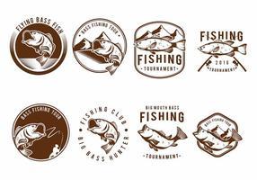 Bass-Fisch-Abzeichen-Set