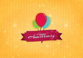 Gratis Vector Aniversario Bakgrund