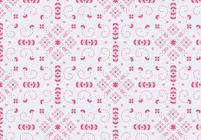 Dekoratives Blumenrot Muster vektor