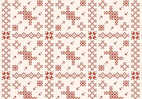 Stitching Rustikales Muster vektor