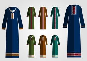 Schöner arabischer Abaya vektor
