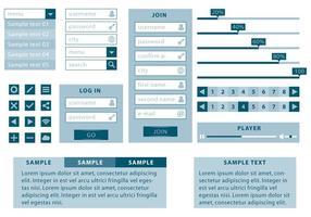 Monochromatische und minimalistische Web-Kit vektor