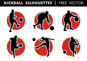 Kickboll silhuetter fri vektor