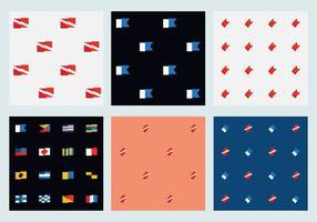 Freie Marineflaggenmuster vektor