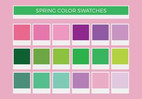 Free Spring Vector Farbmuster