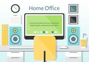 Free vector home büro illustration