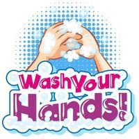 tvätta händerna affischdesign