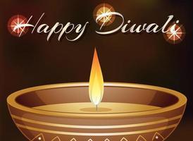 glücklicher diwali Plakatentwurf mit Kerzenlicht vektor