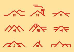Freie Dächer Vektor 1