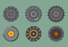 Freier Traktor Reifen Vektor 2
