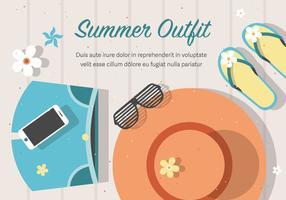 Gratis Vector Sommar Outfit Bakgrund