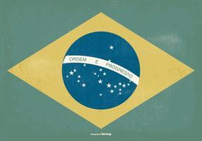 Gammal stil Brasilien flagga vektor