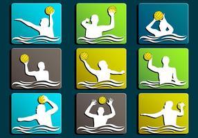 Wasser Polo Silhouette Symbol