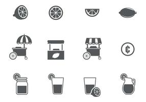 Free Lemonade Icons Vektor