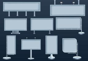 Trend skyltar hamnar platser för annonsering vektor