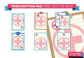 Rezept-Pad kostenlosen Vektor-Pack