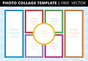 Foto Collage Mallar Gratis Vector