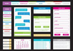 Färgglatt webbsats