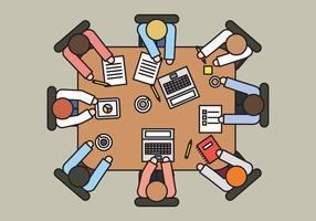 Vektor Tisch für Mitarbeiter
