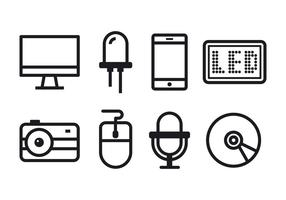 Gratis teknik ikonuppsättning