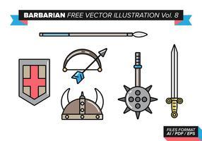 Barbarian kostenlos vektor illustration vol. 8
