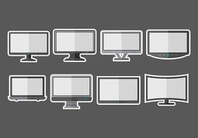 LED-Bildschirm-Icons vektor