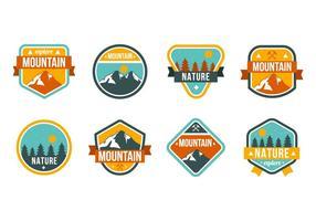 Freie Berg- und Naturabzeichen Vektor