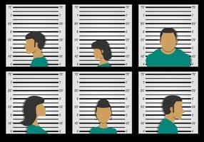 Väggbakgrund för misstänkt