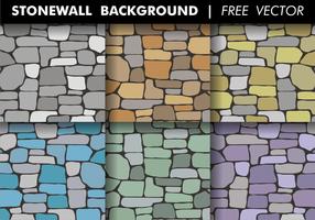Stonewall bakgrund Gratis Vector
